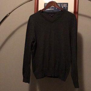 Unisex Gap Grey V Neck Sweater Sweater Size Med